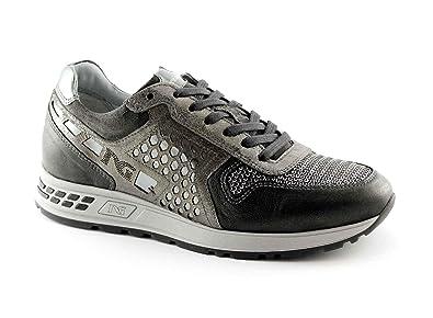 Lacci Grigio Donna Giardini Scarpe Nero Sneakers 16182 Sportive Zw1Aq0