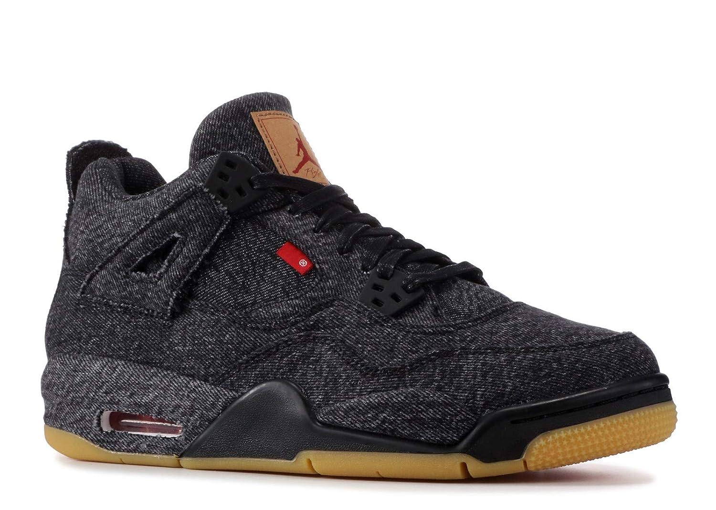 quality design 32f9d d58a4 Amazon.com   Air Jordan 4Rtr Levis Nrg Bg (Gs)  Levis  - Aq9103-001 - Size  6.5 Black, Black-Black   Basketball