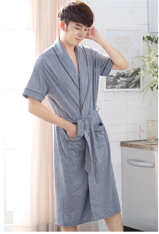 sale uk pretty and colorful good quality Bathroom BIANJESUS Mens Nightwear Dressing Gown Robe Bath ...