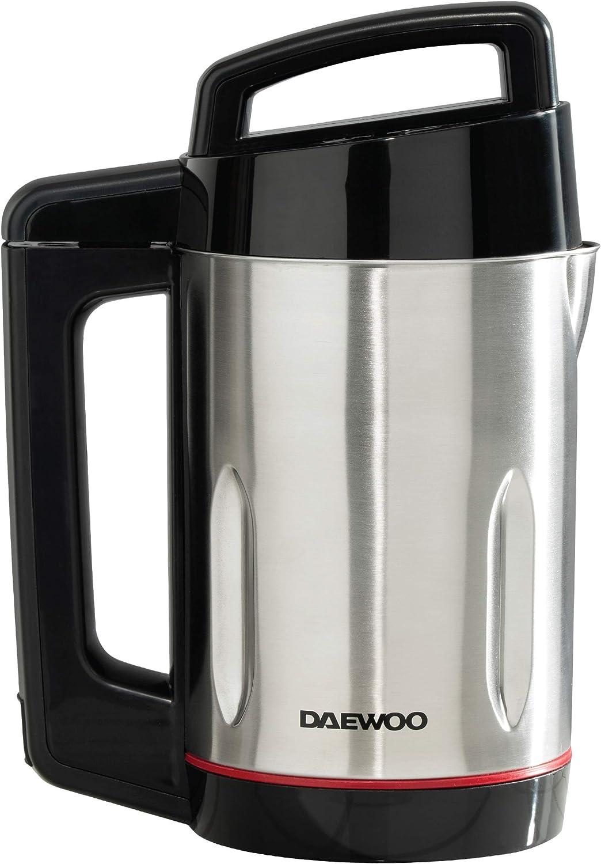 DAEWOO SDA1714 Maker | Uso: 1000 W | Capacidad 1,6 L | Ideal para sopa suave y gruesa, luces indicadoras LED, sensores de sobrellenado y sobrederrame, acero inoxidable, 1000 W, 1,6 litros, color plateado: Amazon.es: Hogar