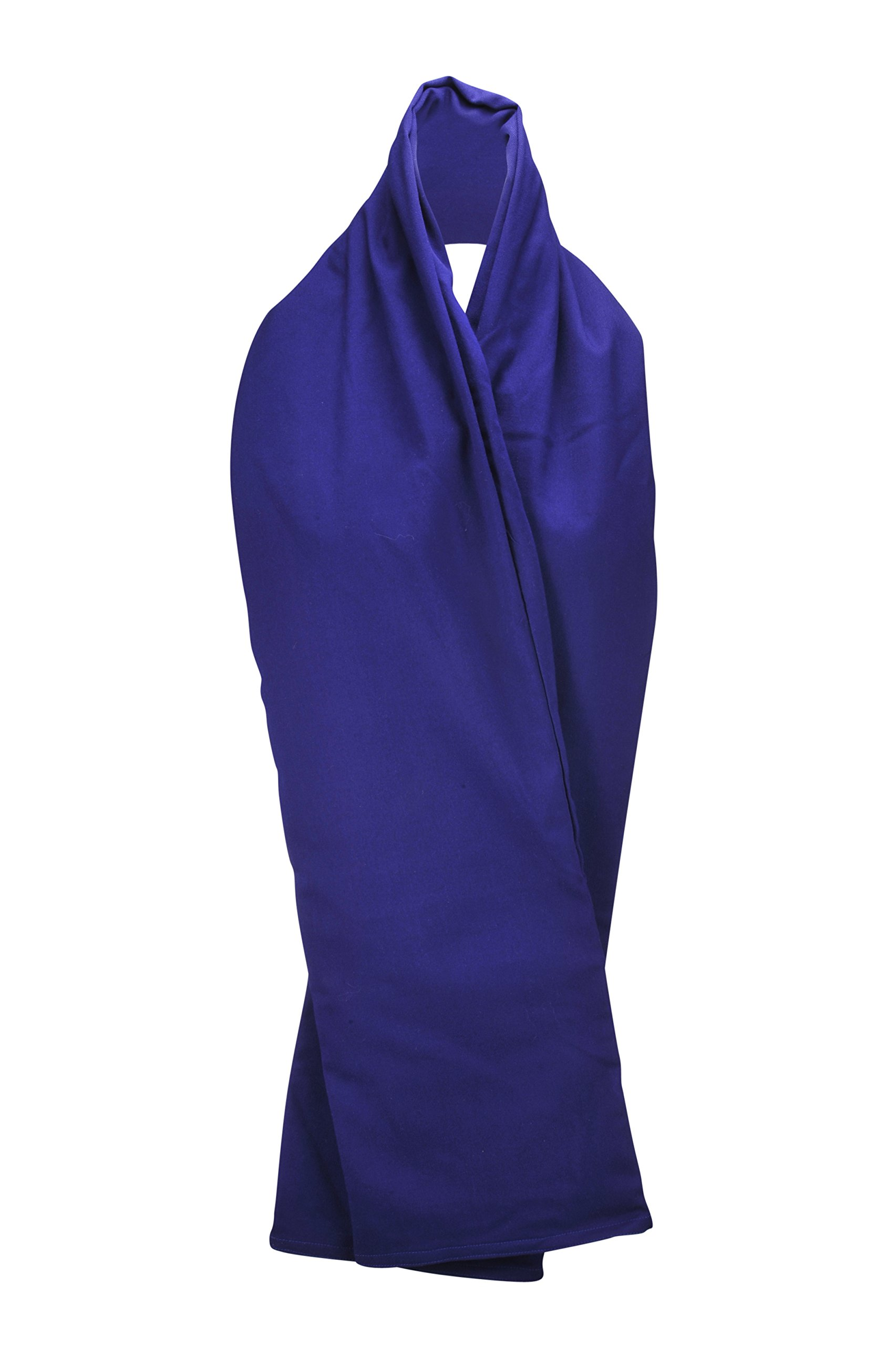 The RainScarf - Reversible Scarf | Includes Waterproof Hood and 2 Pockets | Soft and Comfortable | Generous Length - Purple