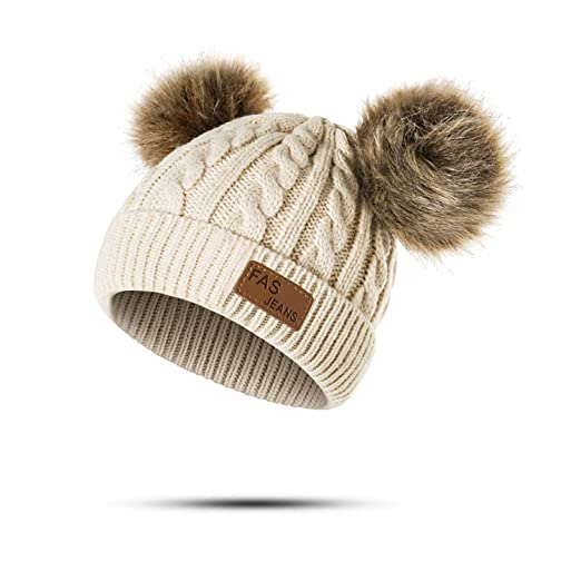 8c2a431ae29 Amazon.com  Eric Carl Baby Hat Pompon Winter Children Hat Knitted ...