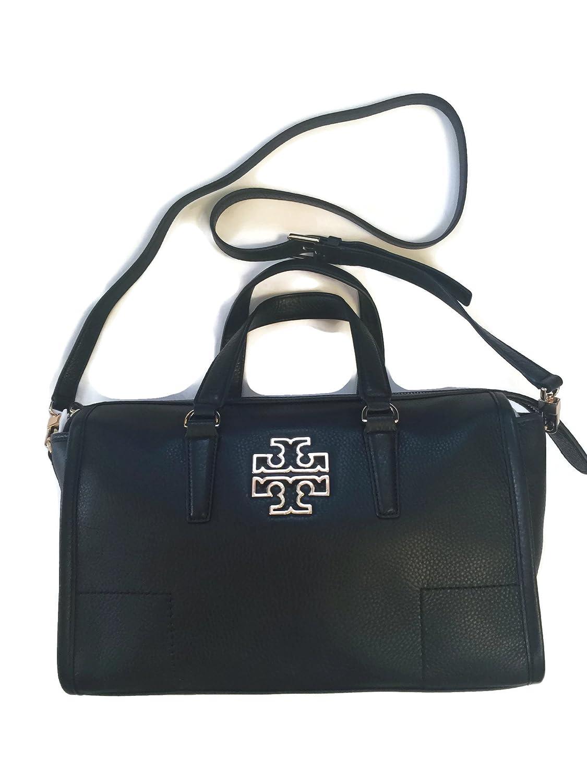 d0cd2f1141e Amazon.com  Tory Burch Britten Satchel in Black 495  style 39056  Shoes