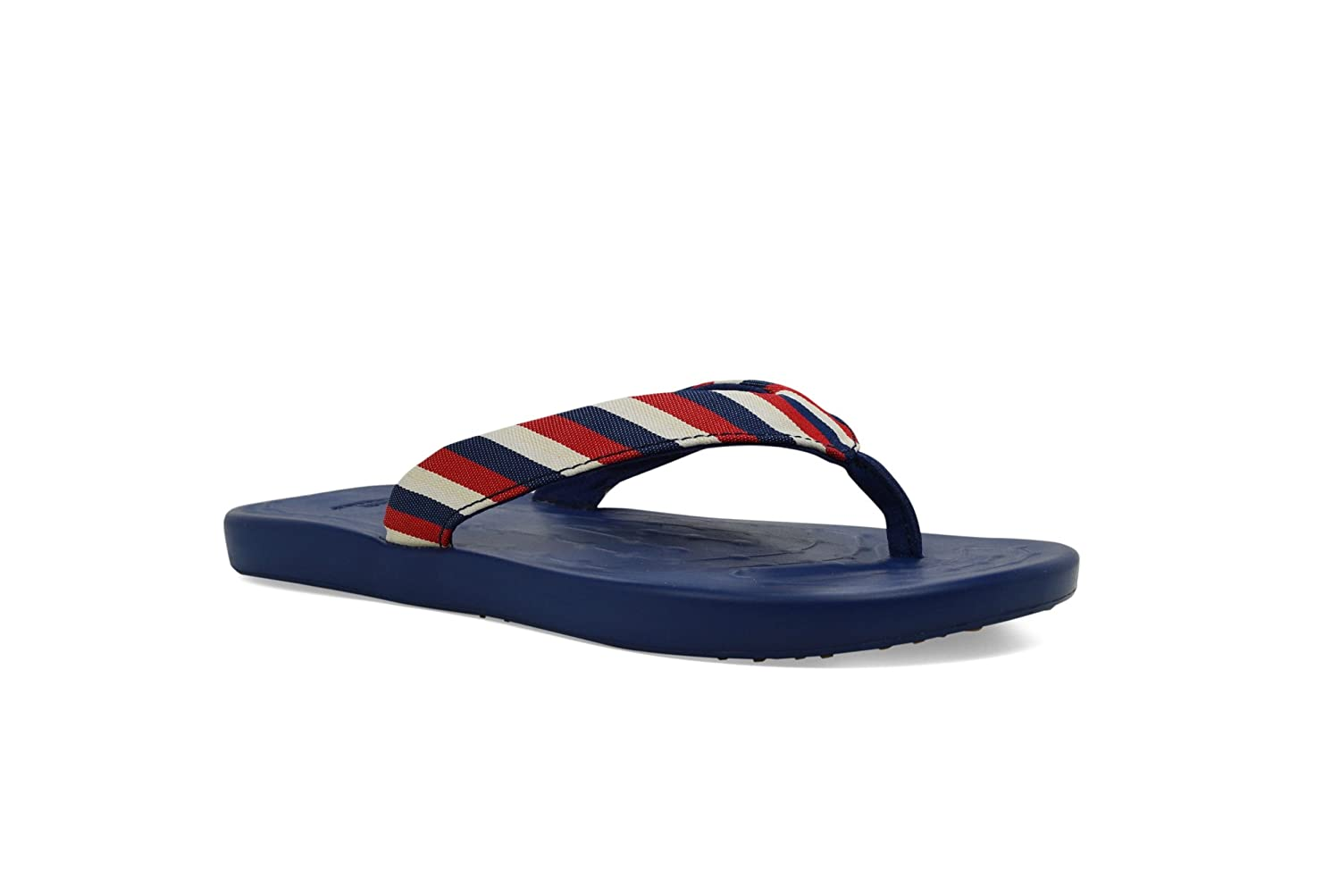 SoftScience The Waterfall Stripe Damen Sandalen Zehentrenner Navy