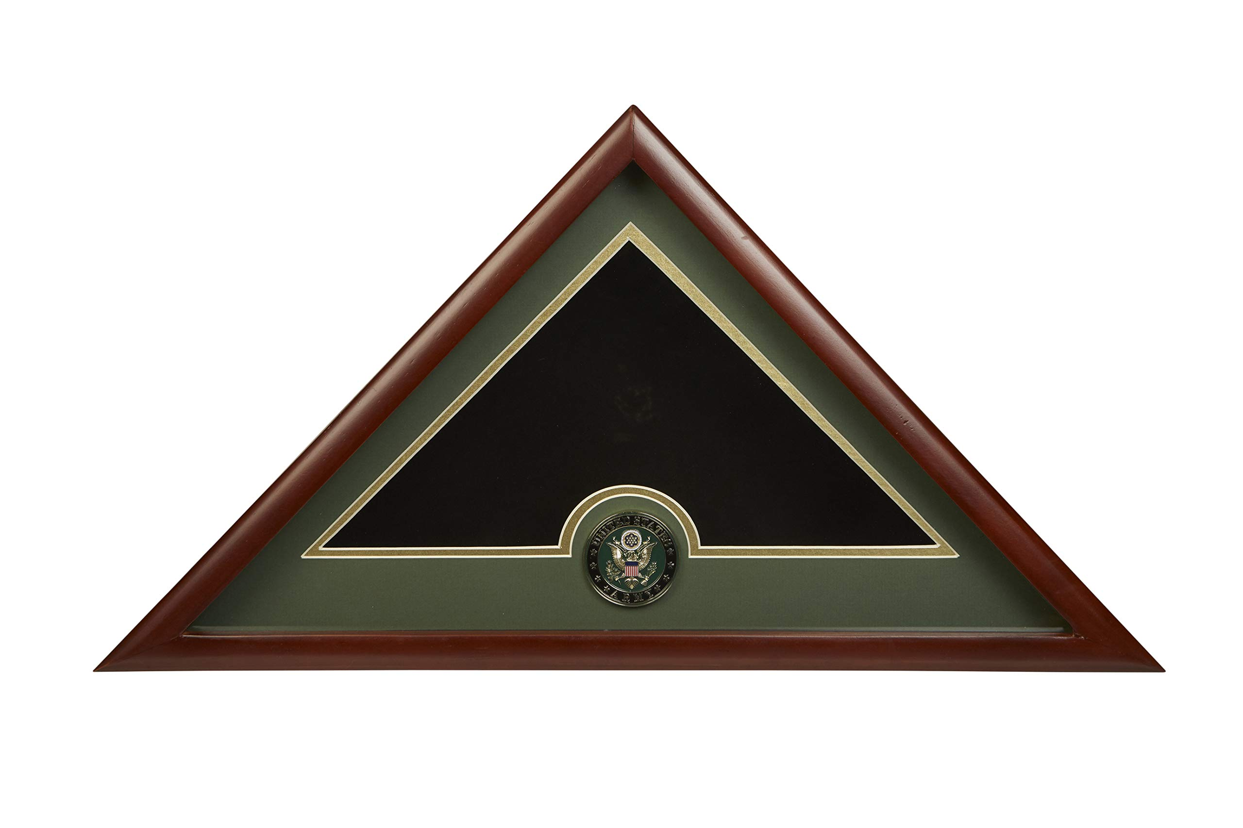 Allied Frame US Army Interment American Burial Flag Display Case with Official Army Medallion by Allied Flag