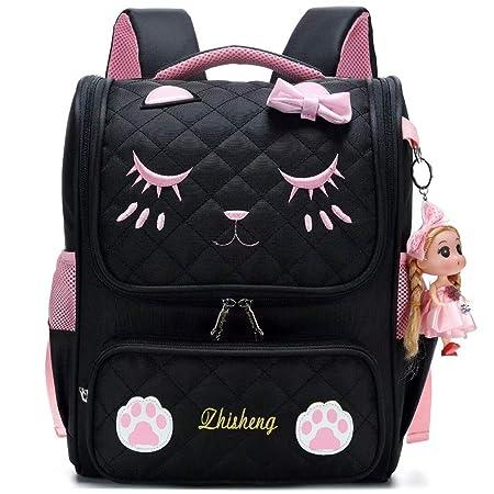 283333ddec24b Girls Backpack for School Cute Cat School Satchel Backpacks for Kids  (Black