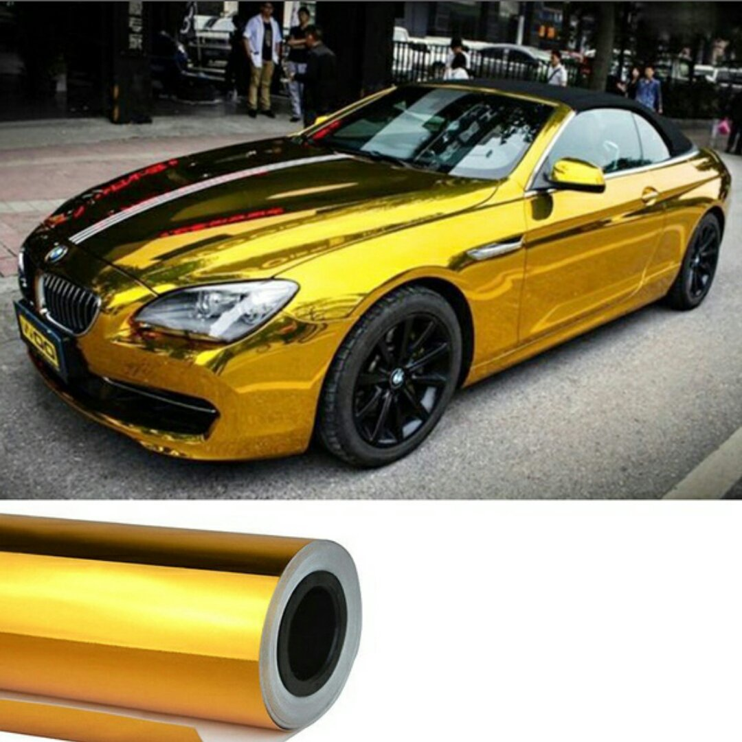 Total Home 18 X30 Golden Metalic Glossy Vinyl Wrap Skin Car Sticker