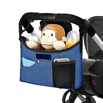 Yarrashop Universale Kinderwagen Organizer Buggy Tasche mit Schultergurt//Deckel