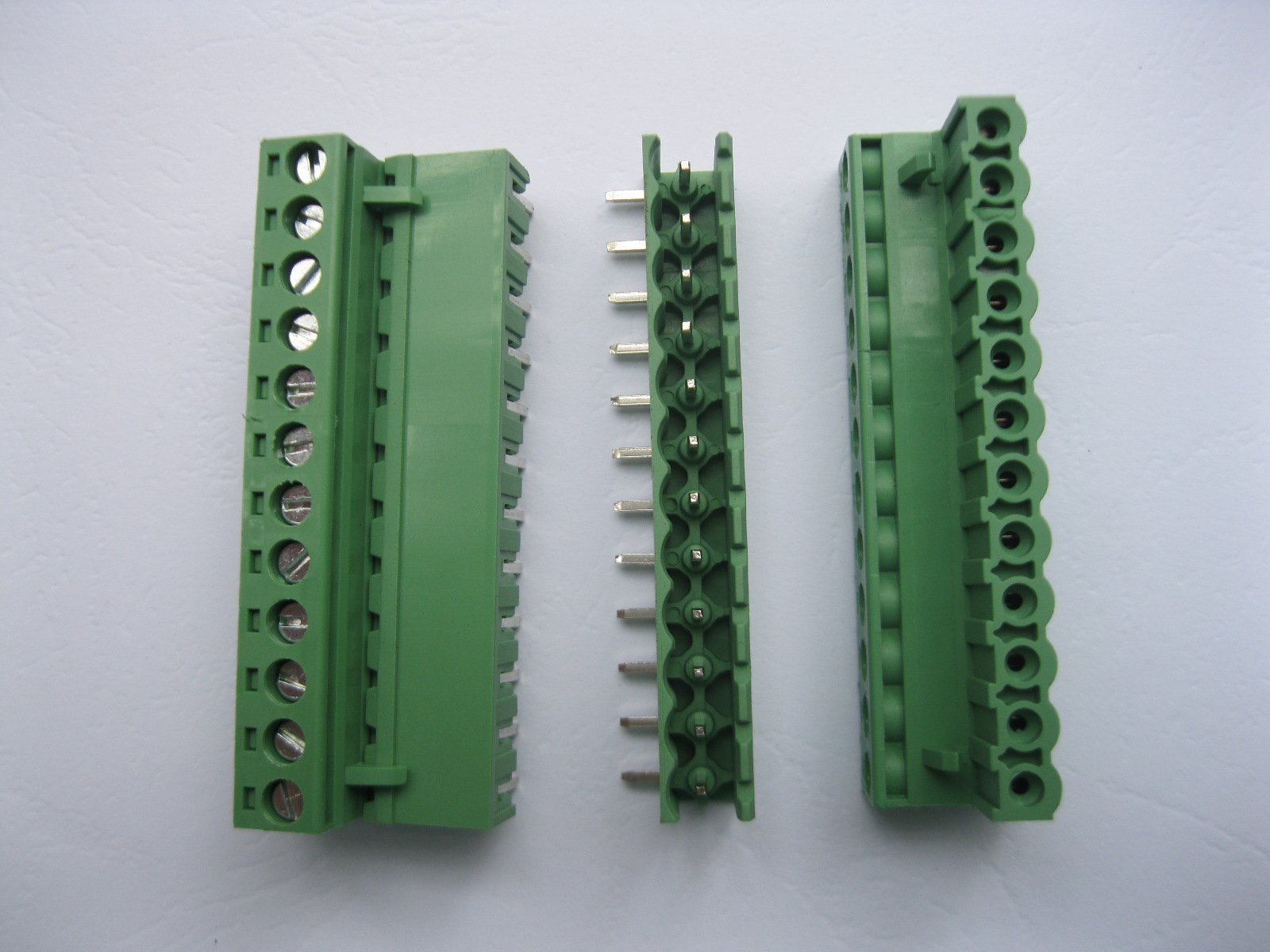 20 Pcs Angle 12 pin/way Pitch 5.08mm Screw Terminal Block Connector Green Color Pluggable Type With Angle pin