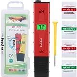 PH Meter, Preciva Digital PH Meter with Large Backlit LCD Screen 0,00-14,00 PH Measuring Range Water Tester for Aquarium…