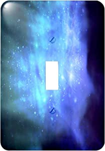 3dRose lsp_151332_1 Blue Space with Stars - Outer Space Texture - Magical Galaxies Nebulas - Science Fiction Sci-Fi - Single Toggle Switch
