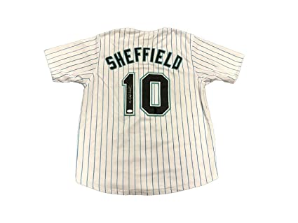 super popular cb5f0 ceb28 Gary Sheffield Signed Jersey - Miami Marlins Home White ...