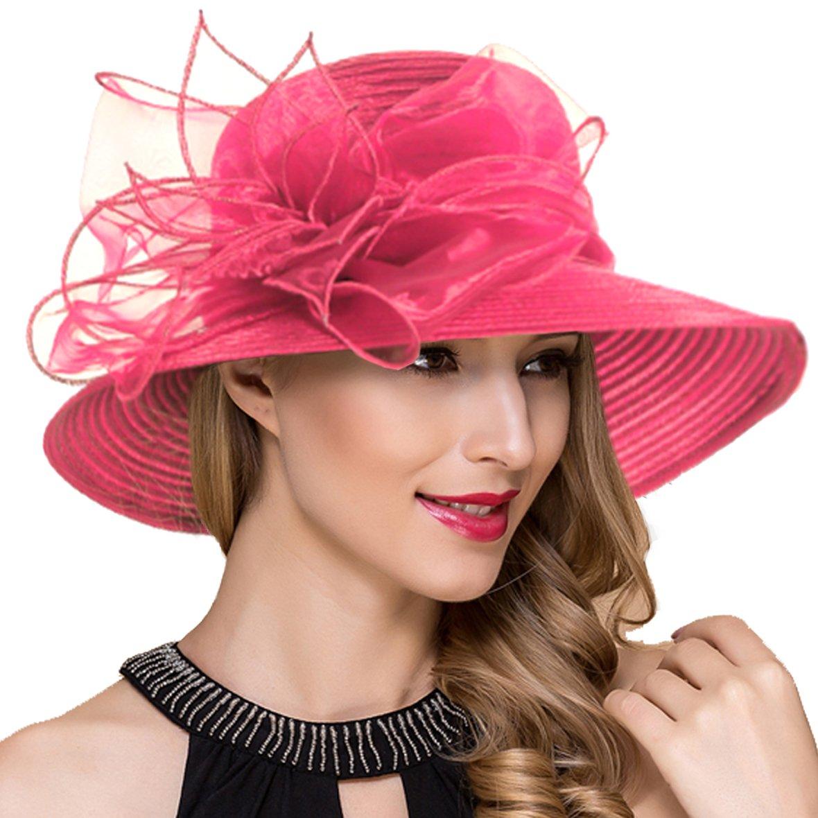 Womens Royal Ascot Derby Cloche Hats British Church Dress Tea Party Hat S051