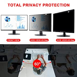 Magicmoon Privacy Filter Screen Protector, Anti-Spy&Glare Film for 23.6 inch Widescreen Computer Monitor (23.6'', 16:9 Aspect Ratio) (Tamaño: 23.6 Widescreen (16:9))