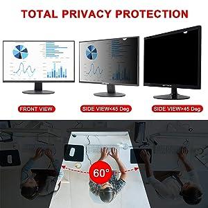 Magicmoon Privacy Filter Screen Protector, Anti-Spy&Glare Film for 19 inch Widescreen Computer Monitor (19'', 16:10 Aspect Ratio) (Tamaño: 19 Widescreen (16:10))