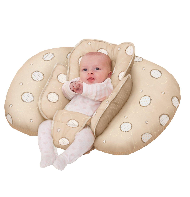 Cuscino allattamento ClevaMama - uso combinato come nido per il bambino