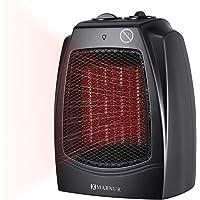 MARNUR Radiateur Soufflant Electrique Chauffe Ceramique pour Chambre Bureau Thermostat Réglable 3 Réglages- Chaleur élevée et Basse + Ventilateur (750 W / 1500 W)