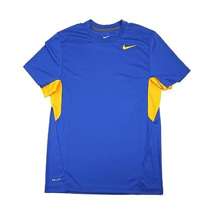 69ca3d0e Amazon.com : Nike Men's Vapor Blue/Yellow Dri-FIT Tee Shirt - Small :  Sports & Outdoors