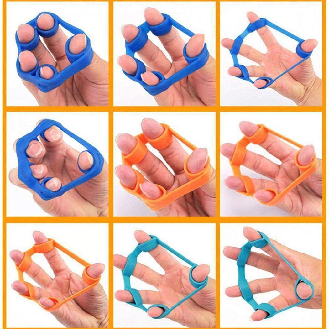 Unisex Silica Gel Finger Puller Finger Rehabilitation Training Toys 0009