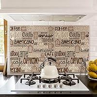 kina PR00023 Pannello paraschizzi Retro Piano Cottura in Plexiglass - Stampa in altissima risoluzione Resistente al Calore Paraschizzi Buon Appetito
