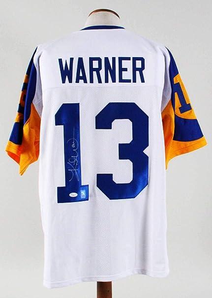 the latest e113f a1d24 Kurt Warner Signed Jersey Rams - COA - JSA Certified ...