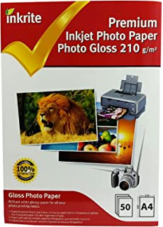 50 Sheets Maxi A4 Glossy 170gsm Photo paper Work With All Inkjet Printers