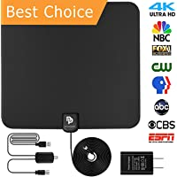 novopal [UPDATED VERSION] Indoor HD Digital TV Antenna | 60~80 Miles Long Range | Support 4K 1080P with Amplified Signal Booster |HDTV Antennas