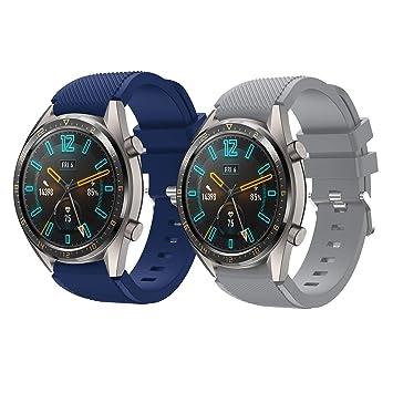 TMCCB Correa para Huawei Watch GT/Watch GT2 46mm Pulsera Banda-[2 ...