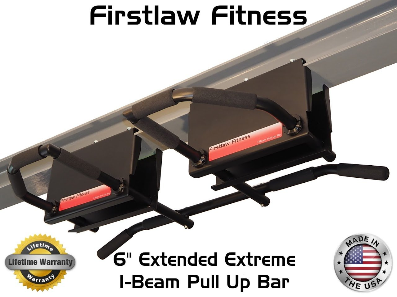 6'' Extended Extreme I-Beam Pull Up Bar - (Long Bar with Bent Ends) by Firstlaw Fitness (Image #2)