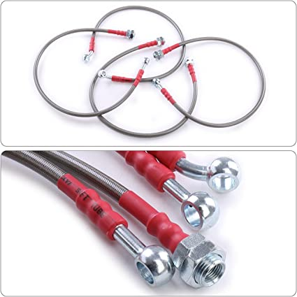 Stainless Steel Brake Lines for 2004-2007 BMW 5-seriese E60 E61