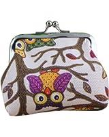 Sannysis Women Small Wallet Hasp Owl Purse Clutch Bag