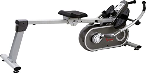 Sunny Health Fitness SF-RW5624 Full Motion Magnetic Rowing Machine Rower w LCD Monitor