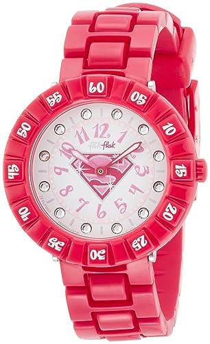 Swatch Flik Flak Supergirl Blanco Dial Rosa Niñas Reloj zfflp003: Amazon.es: Relojes