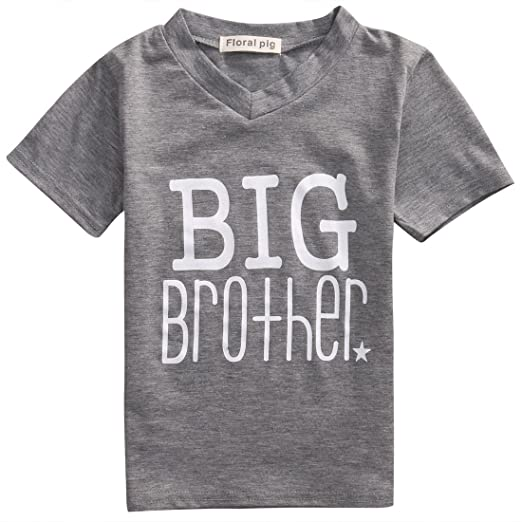 d67e083a7 Gaono Newborn Baby Boys Romper Toddler Boys Tops Shirt Big Brother & Little  Brother Outfits Set