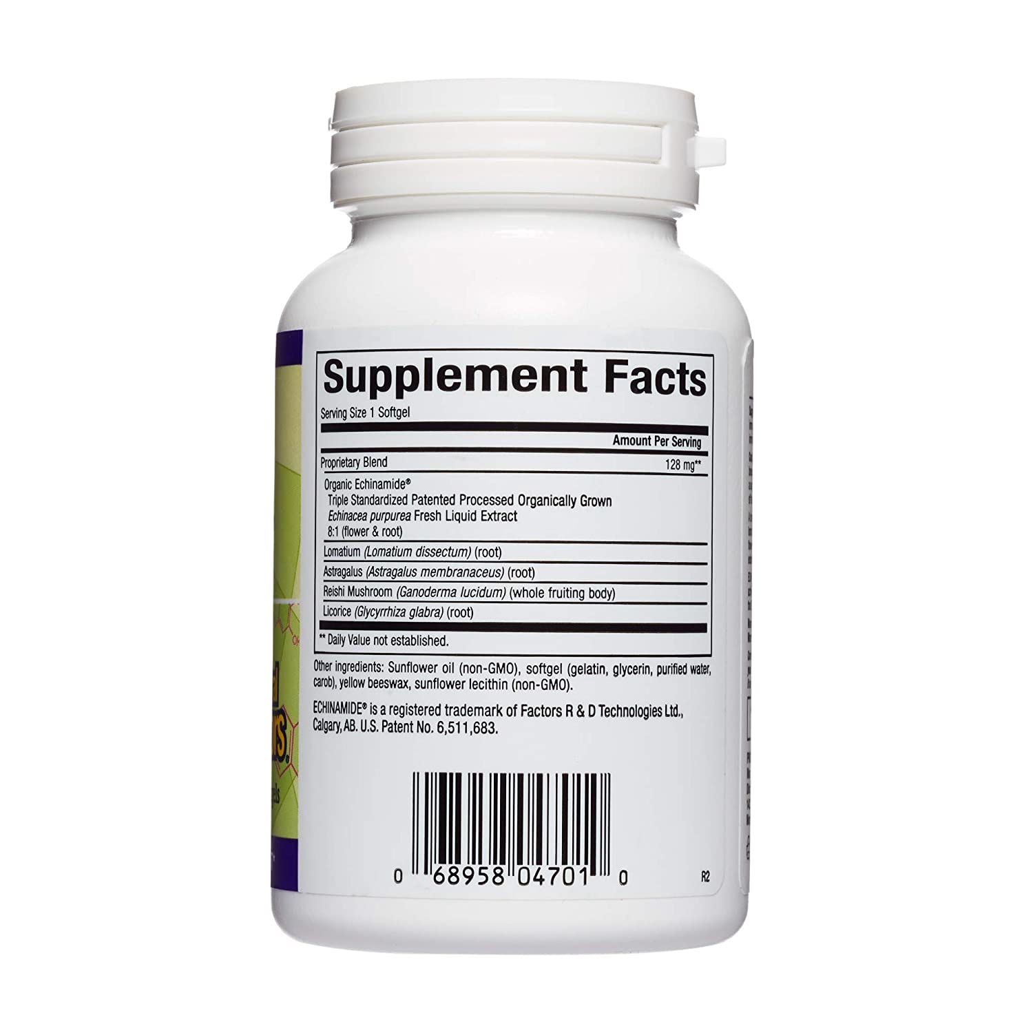 Natural Factors, Anti-V Formula, Supports Immune System Health with Echinamide, Reishi Mushroom and Astragalus, 120 softgels 120 Servings