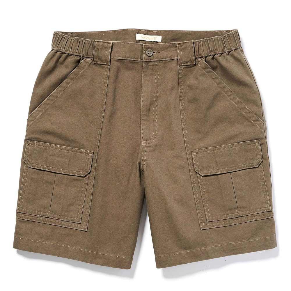 Savane Mens Comfort Hiking Cargo Shorts (42, Dark Brown) by Savane