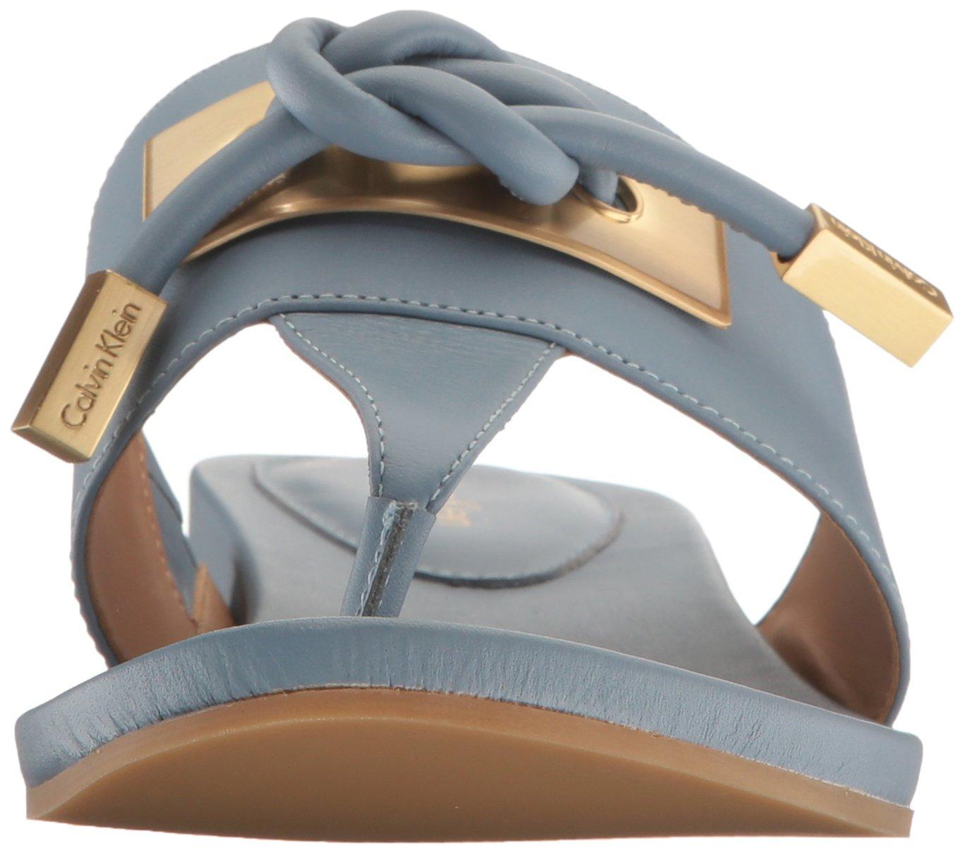 Calvin Klein Women's Parson Toe Ring Sandal B06VW232XS 7 B(M) US|Steel Blue