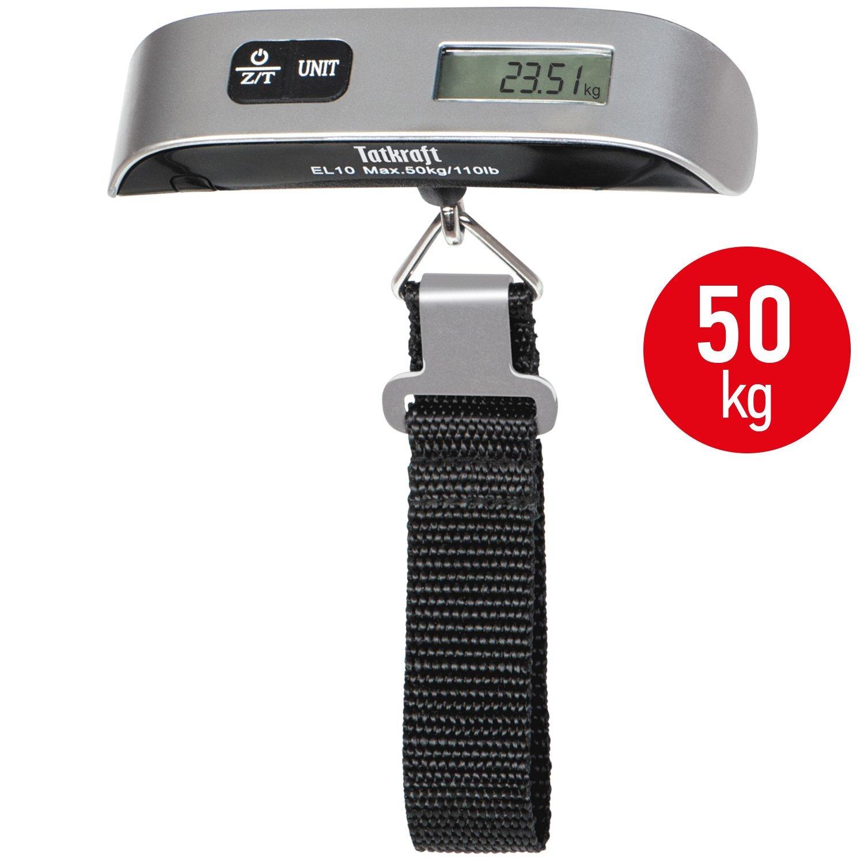 Tatkraft Approved Báscula Digital Portable para Equipaje Acero Inoxidable Tamaño de Bolsillo 50 kg: Amazon.es: Hogar