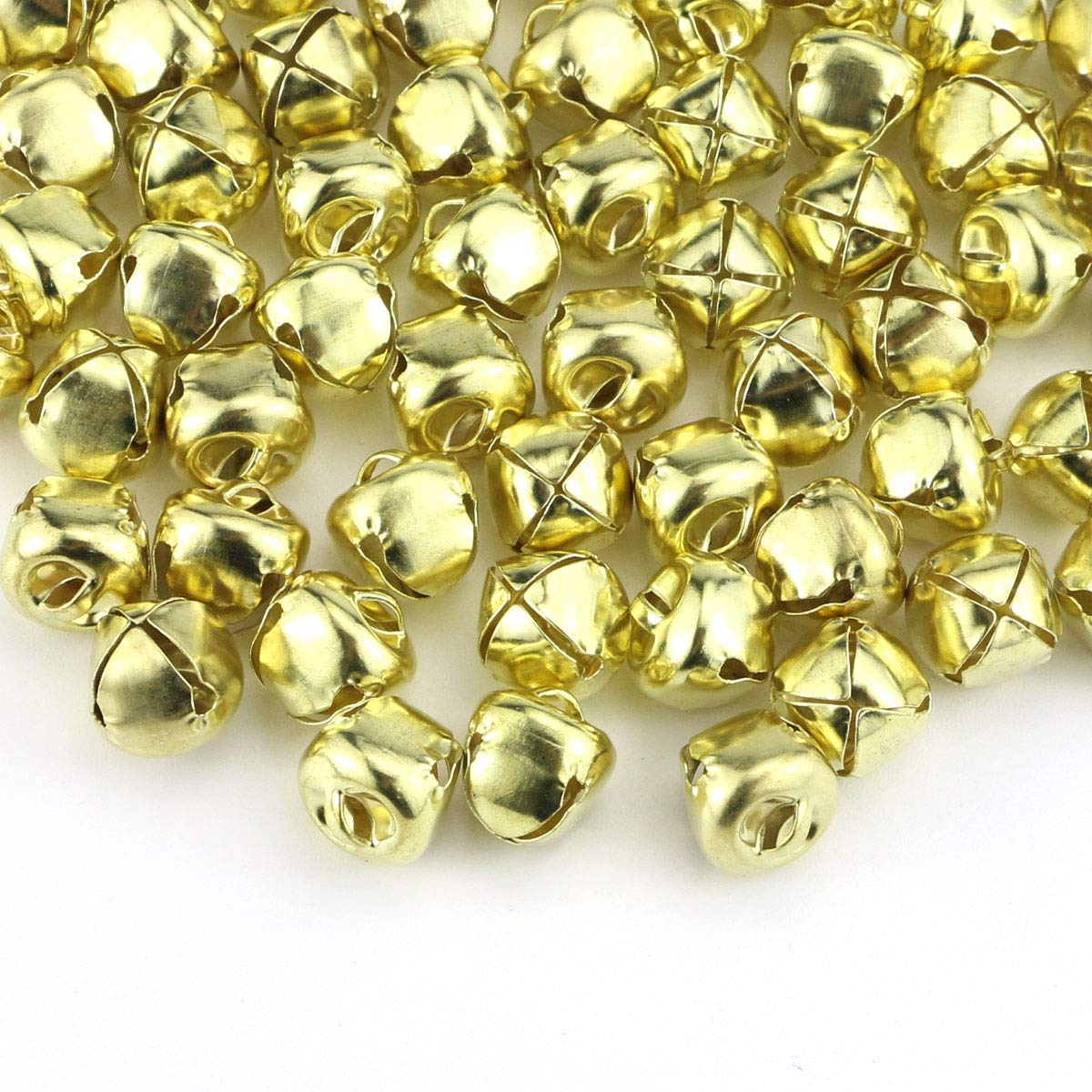 Faxco 300Pcs 13mm//0.5inch Jingle Bells Golden Craft Bell,DIY Bells for Christmas Decoration /& Party /& Festival Decorations