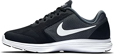 9a04851a1411 Boys  Nike Revolution 3 (GS) Running Shoe Dark Grey White-Pure
