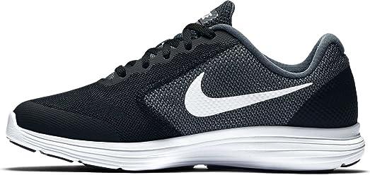 Boys' Nike Revolution 3 (GS) Running Shoe Dark Grey/White-Pure