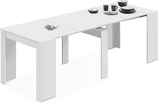 Habitdesign - Mesa de Comedor Consola Extensible, Mesa para