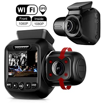 2.4/'/' HD Dash-Cam Dual Camera Front Driving Recorder Car DVR GPS 170 Degree