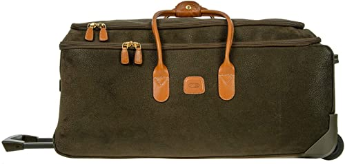 Bric s Life 28 Inch Rolling Duffle Bag Suitcase, Olive