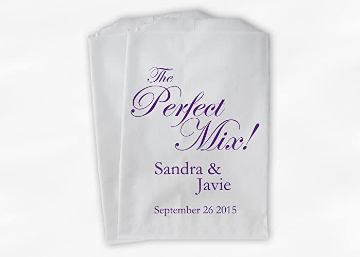 Amazon.com: The Perfect Mix Wedding Favor Bags for Candy Buffet ...