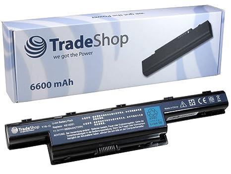 Trade-Shop – Batería de portátil (10,8/11,1 V, 6600 mAh para Acer Aspire 5750 5750 G 7551 G 7551 7551, reemplaza a AS10D51 LC. BTP00.123 AS10G3E ...