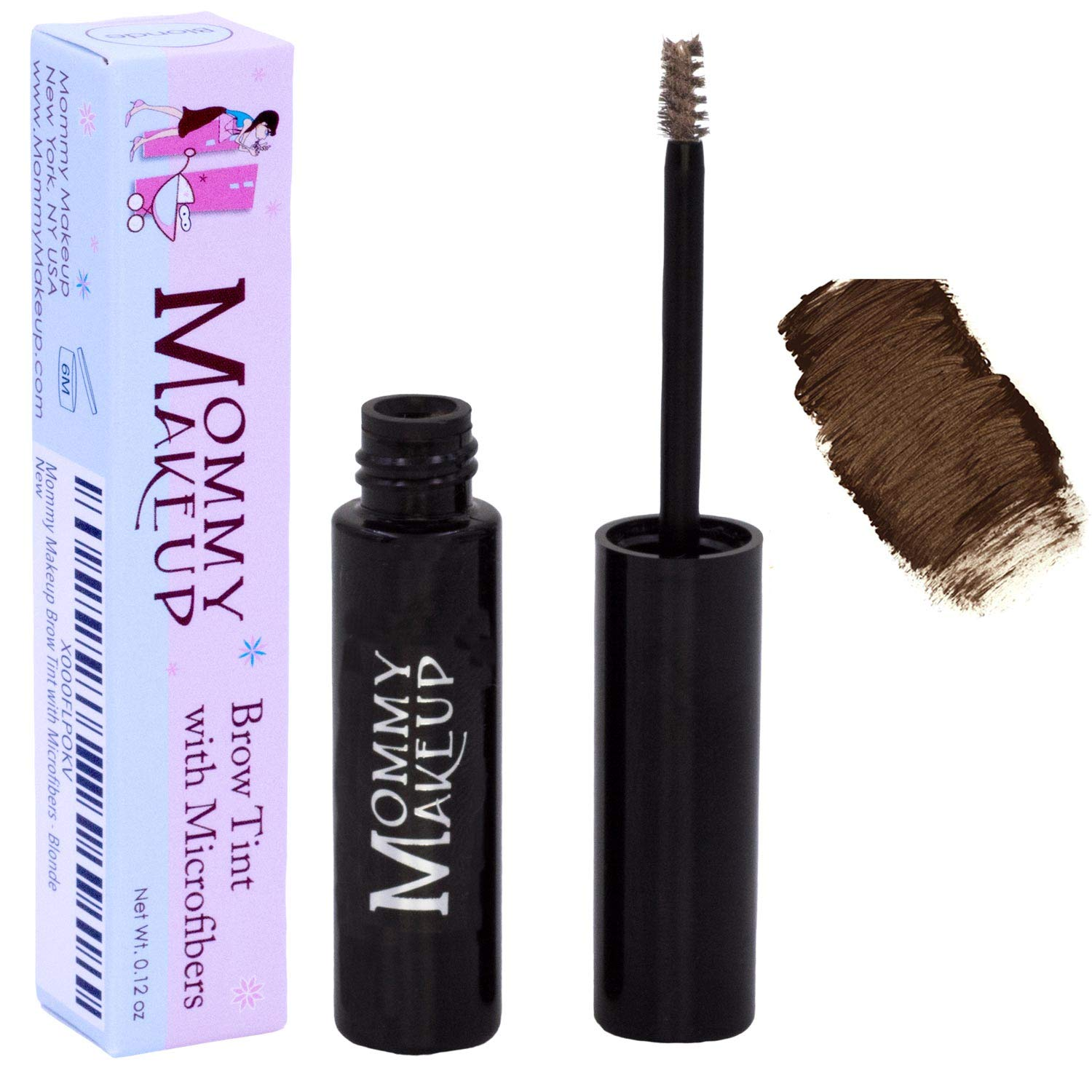 Mommy Makeup Brow Tint with Microfibers. Eyebrow Makeup - Long Lasting Eyebrow Gel. Clump-Free, Paraben-free, Talc-free, Made in USA. PETA Certified No Animal Testing - Sable