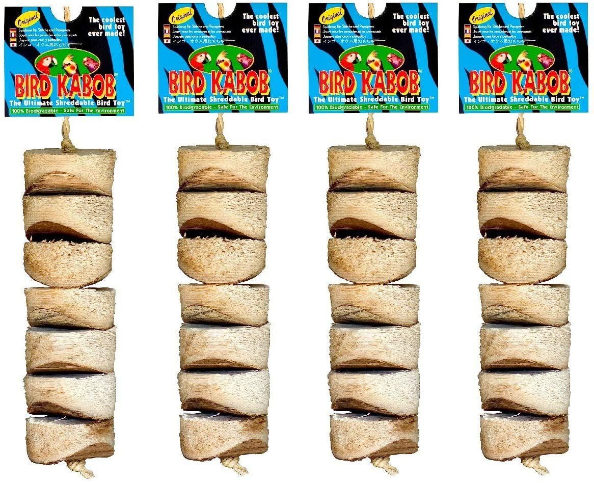 Wesco Pet Original Bird Kabob Shreddable Bird Toy (4 Pack)
