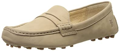 FRYE Women's Rebecca Penny Penny Loafer, Cement Soft Nubuck, ...