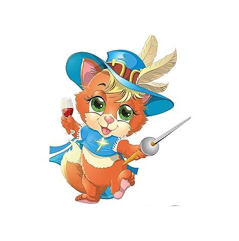 kisscase Custom manta gatos. Colección de gatitos y mosquetero con una espada y un vaso